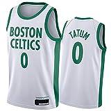 Jayson Tatum #0 Boston Celtics Camiseta De Baloncesto para Hombre, BordadaTranspirable De Malla Secado Rápido Boston Celtics #0 Jayson Tatum Basketball Jersey City Edition-L