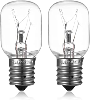 Light Bulb for Whirlpool Microwave - Microwave Light Bulb Stove Light Lamp for Over the Range Whirlpool GE Maytag Kenmore LG Microwave, Dimmable with E17 Base 125V 40W, Repalcement for 8206232A, 2Pack