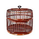 luckxuan Jaula para Pájaros Jaula de pájaros Hecho a Mano Interior y al Aire Libre Ornamental Jaula de Aves Suministros para Mascotas Diámetro 39 cm Jaula para pájaro (Color : Brown)