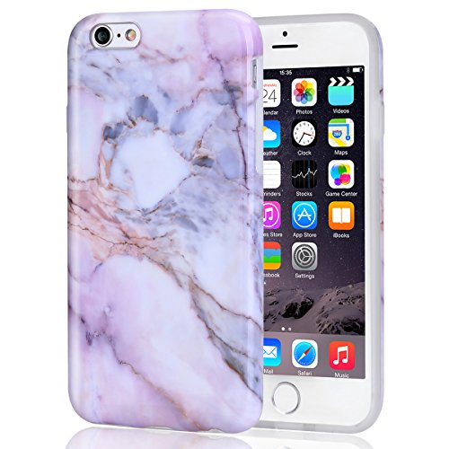 iPhone 6 6S Case Pink Marble for Girls, DAKMEEA Women Best Protective Cute Clear Slim Shockproof Glossy TPU Soft Rubber Silicone Cover Phone Case for Apple iPhone 6 / iPhone 6s 4.7'