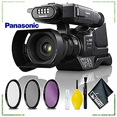 Panasonic HC-MDH3 AVCHD Shoulder Mount Camcorder with LCD Touchscreen PAL + 3pcs Filter Lens + Cleaning Kit from Panasonic
