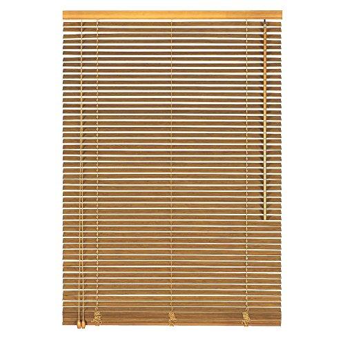 Easy-Shadow Holzjalousie Holz-Jalousie Bambus Jalousette Echtholz Rollo Jalousette 80 x 180 cm / 80x180 cm in Farbe natur - Bedienseite links // Maßanfertigung