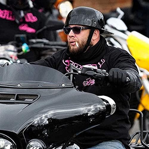 XDKJ Casco de Motocicleta Vintage Cascos de Moto de Cara Media Abierta Gorra de Béisbol con Certificación Dot Casco Gorra de Calavera para Scooter Gorra de Ciclomotor Street Cruiser Jet Style