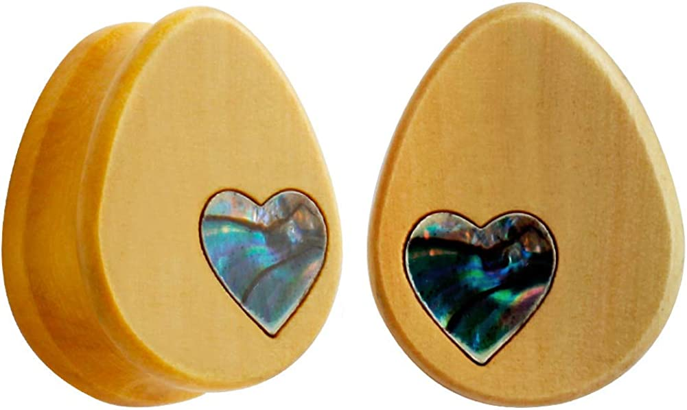 KUBOOZ Ear Plug Tunnel Award-winning store Gauge Shell Stretcher Heart Charlotte Mall Shap Piercing