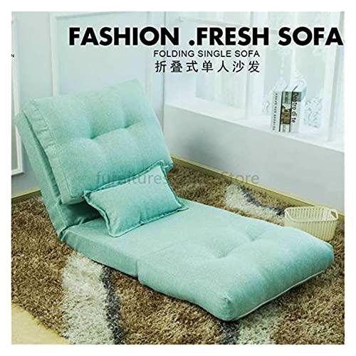 WanXingY 2B Creativo Plegable sofá Lento Sala de Estar Tela sofá Cama Simple Dormitorio Individual pequeño sofá pequeño apartamento Piso Creativo sofá (Color : Light Grey)