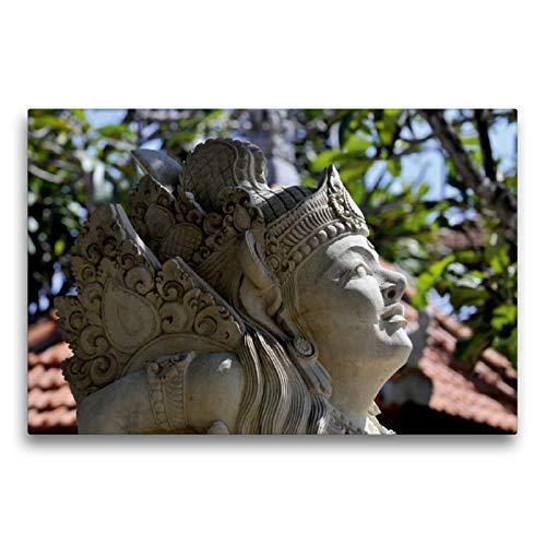 CALVENDO Premium Textil-Leinwand 75 x 50 cm Quer-Format Statue auf Bali, Leinwanddruck von Elisabeth Stephan