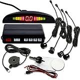 YueYueZou Car Vehicle Radar Parking System with 4 Sensors, Buzzing Alert, LED Display