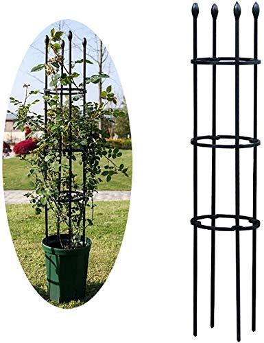 ZXL Plant Supports for Potted Plants, Metal Garden Obelisk Climbing Plant Support Frame Trellis, Garden Support Stake, Plant Support Ring Cage for Rose, Flowers Vine