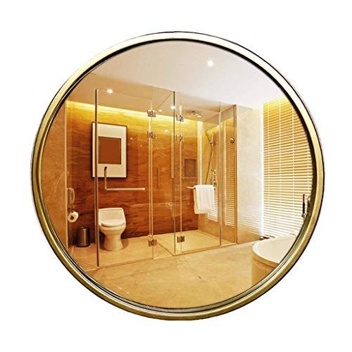 Household Necessities/ijswand spiegel badkamerspiegel rond spiegel make-uptafel voorzijde spiegel) DIAMETER 50CM (20 INCHES) Goud