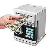 Elektronisch Sparschwein für Kinder,Spardose mit Passwort,Number Bank Piggy Bank, Mini-ATM-Münze Banken Geschenke zum Weihnachten&Geburtstag,Silber