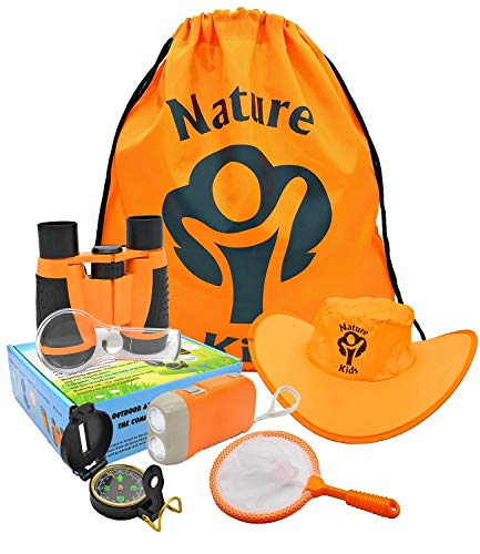 Adventure Kids - Outdoor Explorer Kit, Children's Toy Binoculars, Flashlight,...
