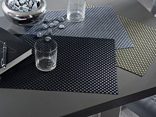 Calitex LPY86NSX71A Now 6 Set de Tables Polyester Noir/Gris 40 x 30 cm