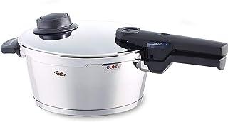Fissler vitavit comfort / Olla a presión (2,5 litros, Ø 18 cm) de acero inoxidable, 2 niveles de cocción, apta para cocinas de inducción, gas, vitrocerámica y eléctricas