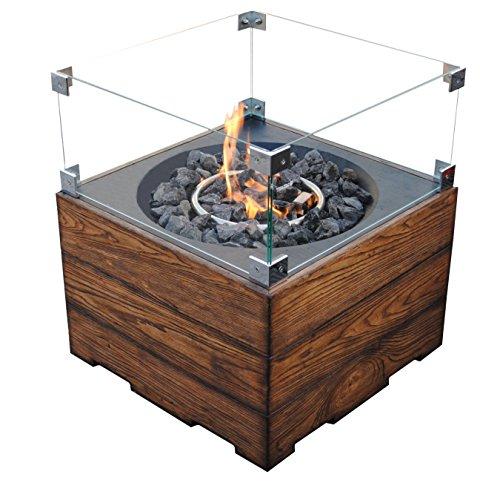 Clifton Glasaufsatz für Gaskamin Heizpilz Feuerstelle Garten Außenkamin;