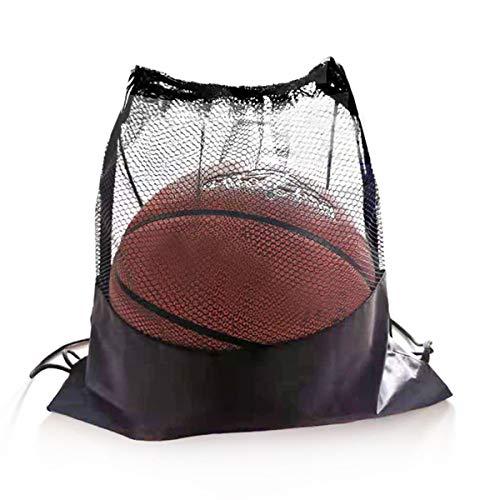 Syuantech Multifunktions-Fußball Fußball Basketball Sportball Ausrüstung Mesh Rucksack Schulter Kordelzug Tasche für Das Training im Fitnessstudio Schwimmen Trainieren