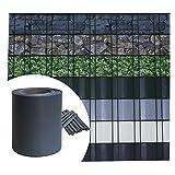 Sichtschutz PVC - Anthrazit RAL 7016 - 35m (7m²) - Doppelstabmatten Zaunfolie Windschutz blickdicht Windschutz
