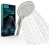 SPARDUSCHKOPF WELLNESS - Duschkopf druckerhöhend - Handbrause mit 3 Strahlarten - Duschbrausen sparsam - Wassersparend - Antikalk - Dusch Brauseduschkopf • Massage & Regen - Für Durchlauferhitzer
