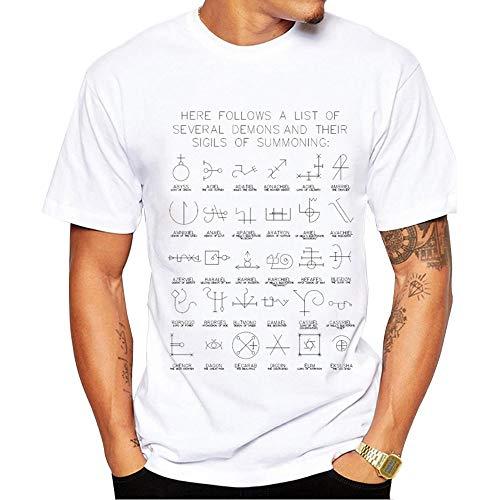 QiaoY - Camiseta para hombre, diseño de ecuación matemática británica, color blanco, blanco, xx-large