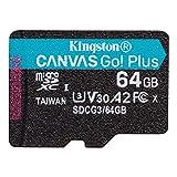 キングストン microSD 64GB 170MB/s UHS-I U3 V30 A2 Nintendo Switch動作確認済 Canvas Go! Plus SDCG3/64GB 永久保証