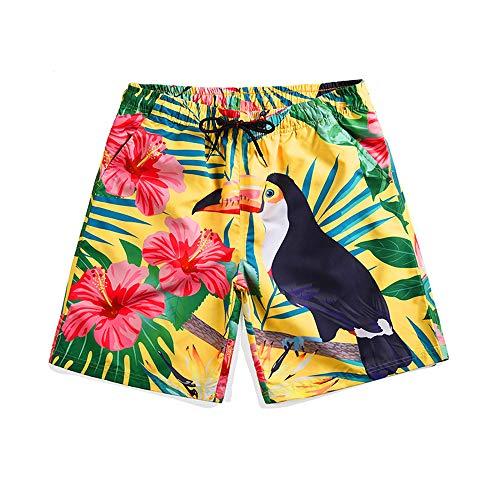 Mannen Shorts Strand Broek 3D Vreemde Vogel Gedrukt Zomer Board Shorts Snelle Droge Sport Zwemmen Trunks Surfen Vakantie Vrije tijd Broek