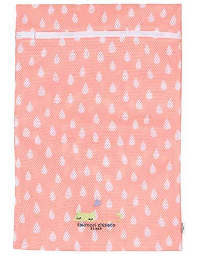 Wacoal ワコール tsumori chisato sleep ツモリチサトスリープ ランドリーケース 洗濯 ネット ネコ しずく柄 ワンポイント刺繍 旅行に UEX513 ピンク(PI) M