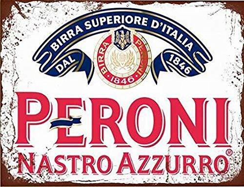 Fieanxi Vintage Metalen Tin Teken 8x12 Peroni Nastro Azzurro Lager Bier Muurdecoratie Home Decor