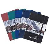 Pack de 5 Cuaderno Punteado Bullet Journal A5, Tapa Dura Libreta de Puntos con 3 Índice y 235 Páginas Numeradas, Bucle de...