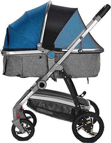 【Nouvelle mise à jour】 Infantil sillas de paseo ligero del cochecito de bebé del cochecito de niño del carro Sistema de viaje portátil con prueba de golpes Cochecito de niño recién nacido y del niño p