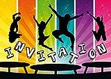 Edition Colibri Lot de 10 Cartes d'Invitation en Français pour Un Anniversaire d'Enfant ou pour Une Partie de Saut dans Le Parc de Trampoline des (11017 FR)