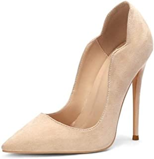Fashion Pointed High Heels For Banquet Wedding Dress Daily (Color : Beige, Size : 38)