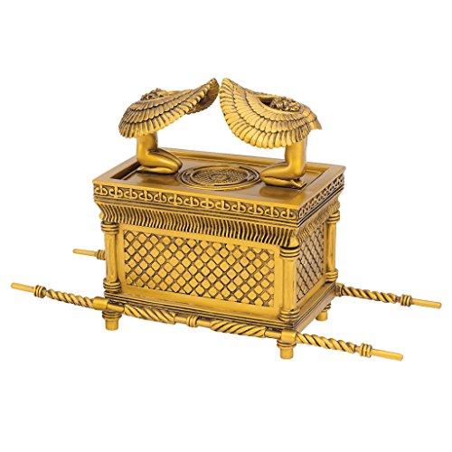 Design Toscano Joyero de decoración egipcia, Arca de la Alianza, Dorado, 28 cm, 1