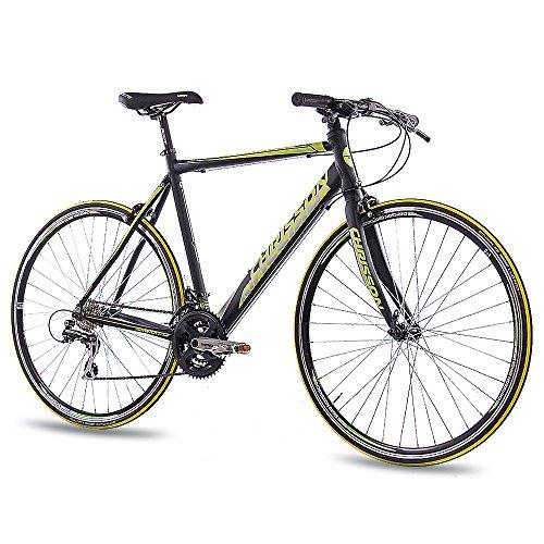 CHRISSON 28 Zoll Rennrad Fitnessrad AIRWICK mit 24G ACERA schwarz, Rahmengröße:59 cm