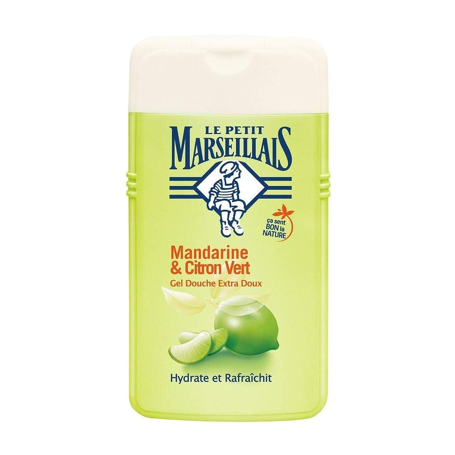 晩餐破壊的なピアル プティ マルセイユ Le Petit Marseillais シャワージェル/ボディソープ (マンダリンオレンジ と ライム, 250 ml)