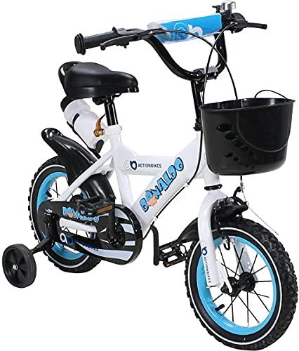 Actionbikes Kinderfahrrad Donaldo - 12 Zoll - V-Break Bremse vorne - Stützräder - Luftbereifung - Ab 2-5 Jahren - Jungen & Mädchen - Kinder Fahrrad - Laufrad - BMX - Kinderrad (12`Zoll)