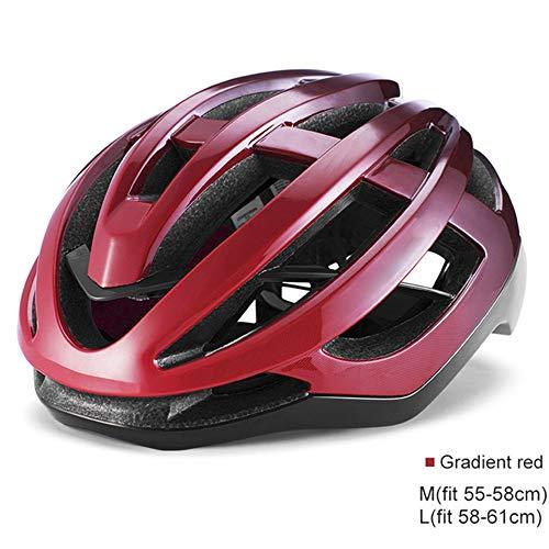 YWZQ Tragbarer Fahrradhelm, Sicherheits-Schutzhelm, Unisex Fahrrad-Hoverboard, Inline-Skate-Roller-Helm, verstellbar, Kopfumfang M (55-58 cm); L (58-61 cm), bronze, M