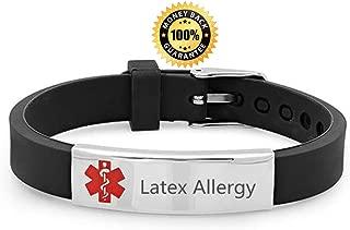 latex allergy silicone bracelets