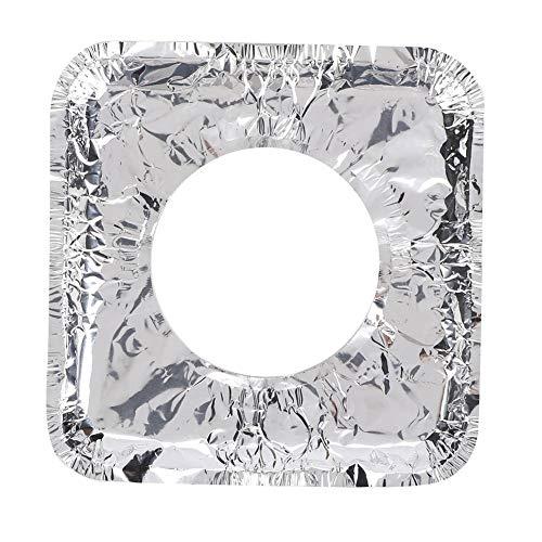 foglio di alluminio, foglio di alluminio fornello a gas ad alta temperatura tampone di pulizia quadrato carta oleata 10 pezzi
