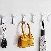 Queta 6 stuks handdoekhaken zonder boren aluminium handdoekhouder zelfklevende kledinghaken muur kleefhaken roestvrij deur...