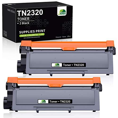 JARBO TN2320 Toner (2x Schwarz) Ersetzt für Brother TN-2320 für Brother HL-L2300D HL-L2340DW HL-L2360DN HL-L2365DW DCP-L2500D DCP-L2520DW DCP-L2540DN DCP-L2560DW MFC-L2700DN MFC-L2700DW MFC-L2720DW