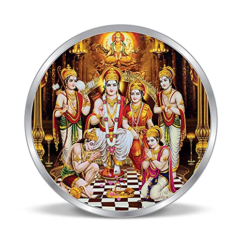 ACPL Precious Moments Silver Coin Ram Darbar Colorful Design 999 Pure