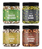 GreenFinity Dry Fruits Combo Pack - (250g * 4) 1kg (Almonds, Cashews, Pistachios, Raisins) - All Premium.