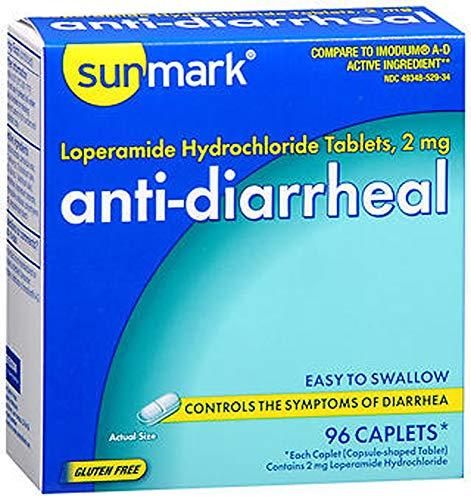 Sunmark Anti-Diarrheal Caplets - 96 ct, Pack of 2