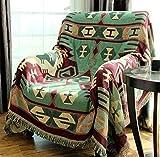 RAIN QUEEN Alfombra Kelim Kilim Carpet, alfombra de suelo, alfombra oriental, tejida a mano (130 x 180 cm), color verde