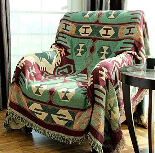 RAIN QUEEN Alfombra Kelim Kilim Carpet, alfombra de suelo, alfombra oriental, tejida a mano, oriental indio (230 x 250 cm, verde)