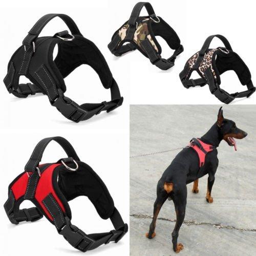 Kingnew Arnés acolchado de nailon resistente para perros, extragrande, medianos y pequeños, color negro, S