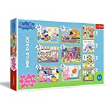 Trefl Peppa Pig 90358 - Puzzle de 20 a 48 Piezas, 10 Juegos, para niños a Partir de 4 años