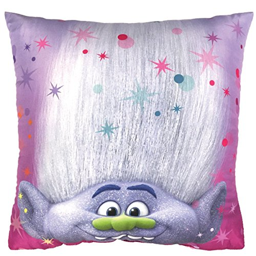 Trolls Poppy Kissen, Polyester, Mehrfarbig, 40 x 40 x 8 cm