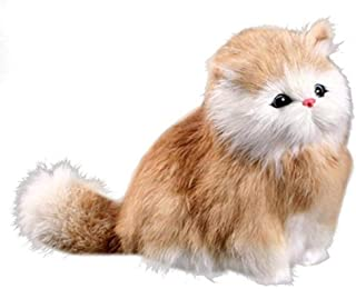 WY Weiyun Educational Toys -Cat Plush Animal Model- Figurine Model -Electronic Pet Talking Ornament- Simulation Cats Toys Figures Kids Birthday Party Gifts (B)