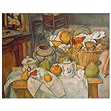 JUNIWORDS Poster, Paul Cézanne, Stillleben mit Obstkorb,