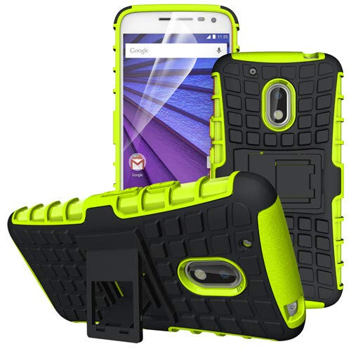 betterfon | Outdoor Handy Tasche Hybrid Hülle Schutz Hülle Panzer TPU Silikon Hard Cover Bumper für Lenovo Moto G4 Play Grün